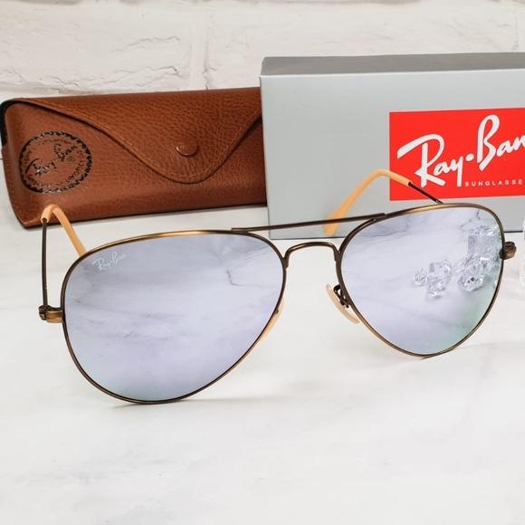 Ray-Ban Accessories   Ray Ban Aviator Sunglasses 58 Mm Bronze Copper ... 1310c78fb035